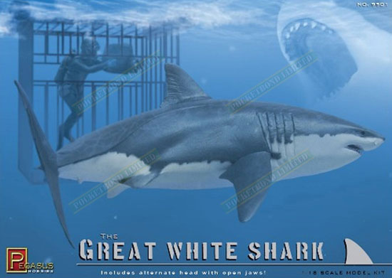 Great White Shark 1/18