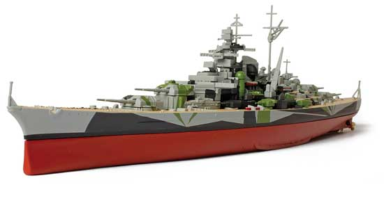 German Battleship Tirpitz 1/700
