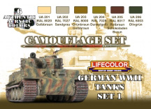 CAMOUFLAGE TANKS ALLEMANDS