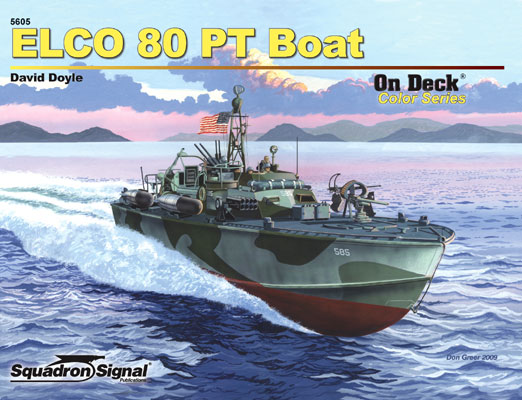 ELCO 80 foot PT BOAT on deck