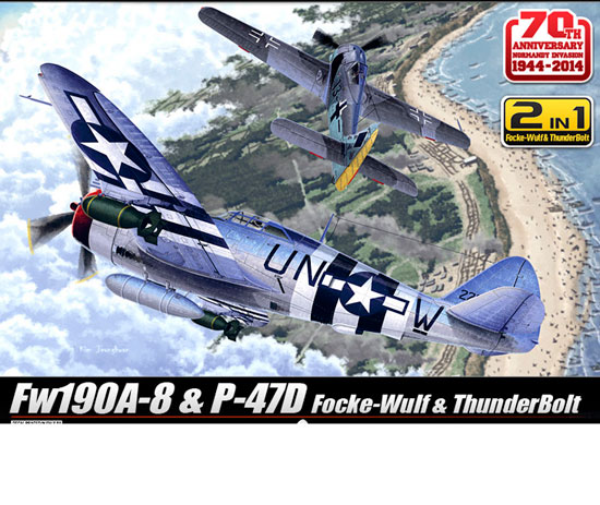 D-DAY P-47& FW190A-8 Combo 1/72