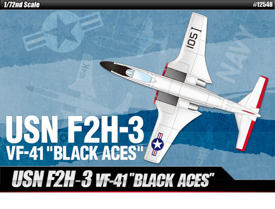 USN F2H-3 Black Aces 1/48