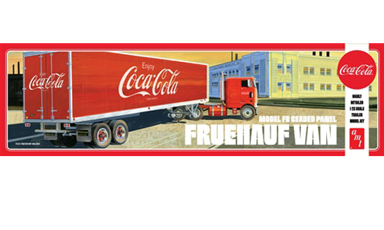 VAN SEMI TRAILER COCA-COLA 1/25