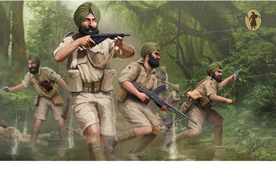 Infanterie Indienne WWII 1/72