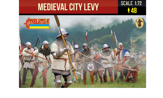 Medieval city levy 1/72